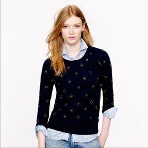 J Crew Beaded Black Sweatshirt